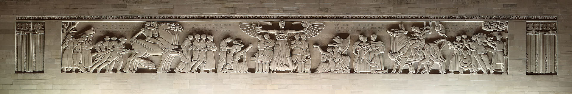 War Memorial Stone Frieze