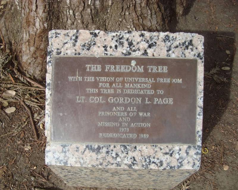 Freedom Tree Memorial Plaque