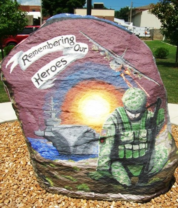 Veterans Memorial Rock