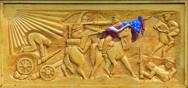 War Memorial Wood Carving