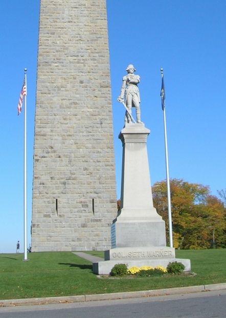 COLONEL SETH WARNER REVOLUTIONARY WAR MEMORIAL