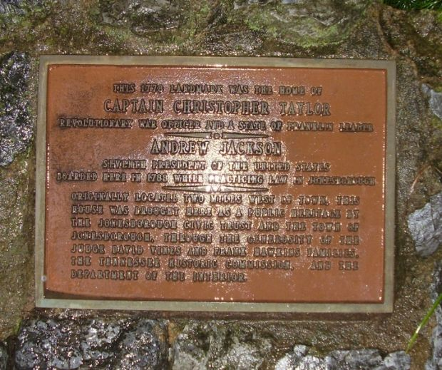 CAPTAIN CHRISTOPHER TAYLOR REVOLUTIONARY WAR MEMORIAL PLAQUE