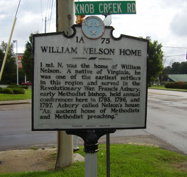 WILLIAM NELSON HOME REVOLUTIONARY SOLDIERS MEMORIAL MARKER