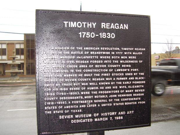 TIMOTHY REGAN REVOLUTIONARY SOLDIER MEMORIAL MARKER