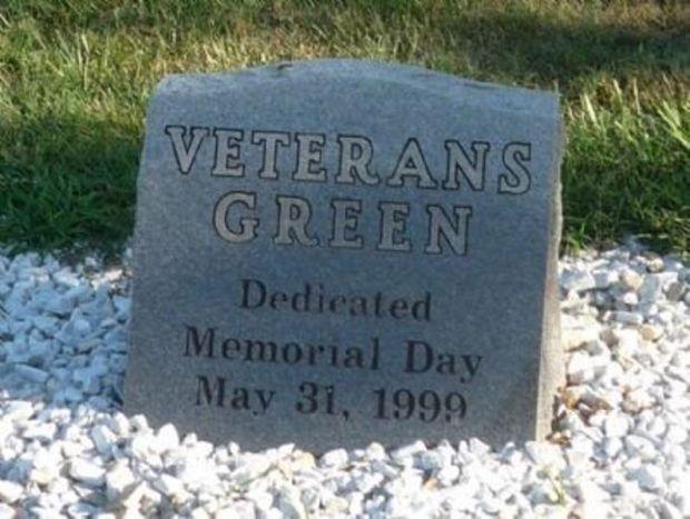 VETERANS GREEN MEMORIAL DEDICATION STONE