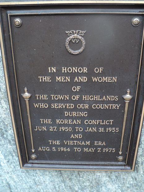 HIGHLAND KOREAN AND VIETNAM WAR MEMORIAL