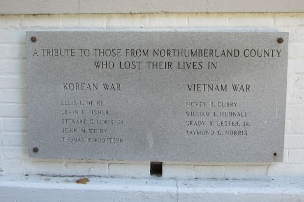 NORTHUMBERLAND COUNTY KOREAN WAR AND VIETNAM WAR MEMORIAL