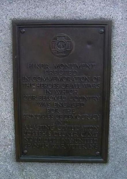 TOMPKINSVILLE PARK SPANISH-AMERICAN WAR MEMORIAL PLAQUE A
