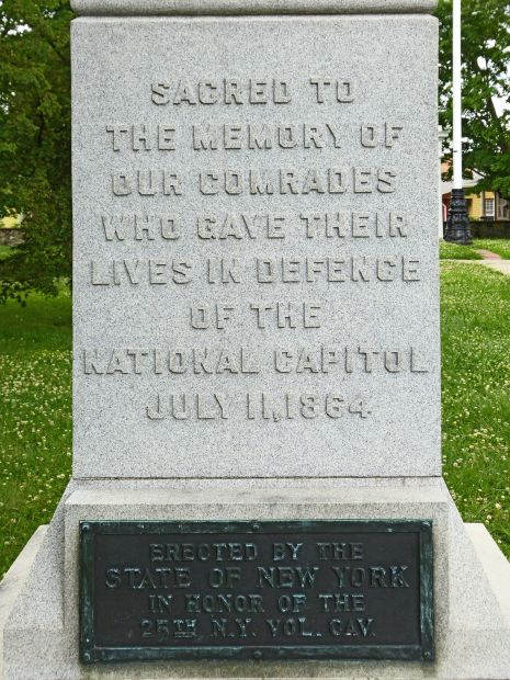 THE 25TH NEW YORK VOLUNTEER CAVALRY WAR MEMORIAL DEDICATION STONE
