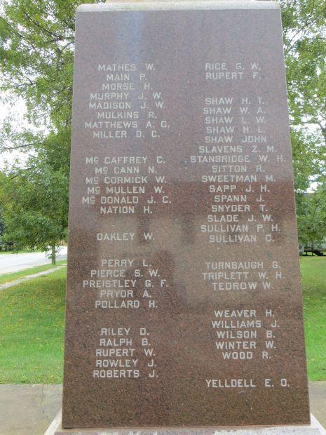 MAJ. SAM. HAYS POST 477 G.A.R. WAR MEMORIAL STONE B