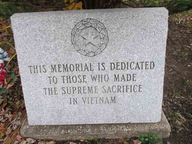 POTSDAM WAR VETERANS MEMORIAL RIGHT STONE