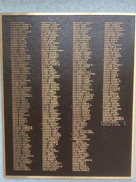 NORTH PLAINFIELD WORLD WAR II 50TH ANNIVERSARY COMMEMORATIVE MEMORIAL PLAQUE E