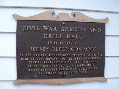 BERGEN COUNTY CIVIL WAR AND DRILL HALL MEMORIAL PLAQUE