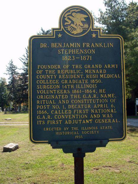 DR. BENJAMIN FRANKLIN STEPHENSON MEMORIAL MARKER