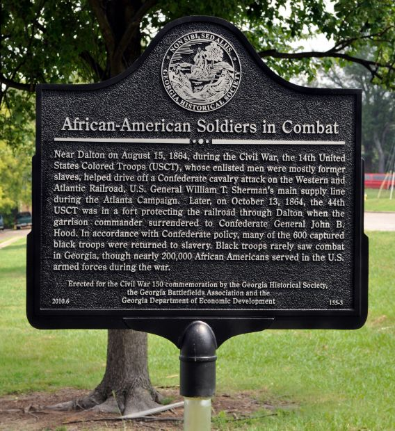 AFRICAN-AMERICAN SOLDIERS IN COMBAT WAR MEMORIAL MARKER