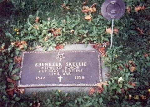 2LT. EBENEZER SKELLIE MEDAL OF HONOR GRAVE STONE