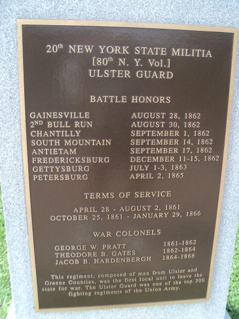 20TH NEW YORK STATE MILITIA WAR MEMORIAL