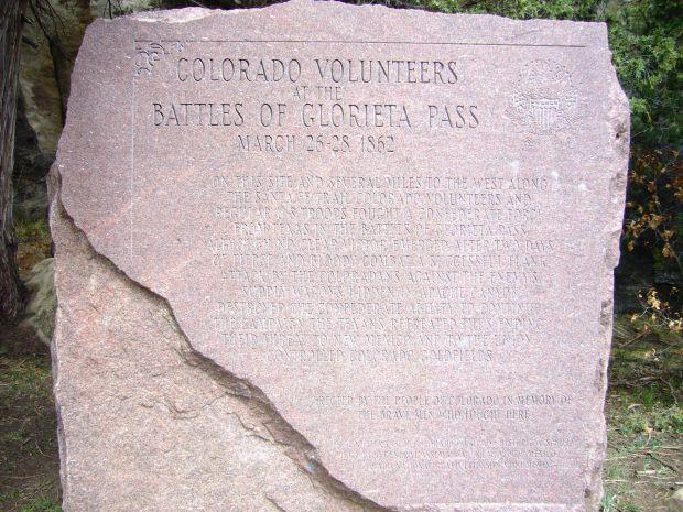 BATTLE OF GLORIETA PASS WAR MEMORIAL
