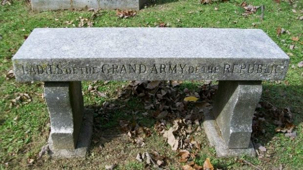 LADIES OF THE GRAND ARMY OF THE REPUBLIC MEMORIAL BENCH