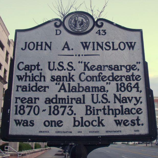 JOHN A. WINSLOW WAR MEMORIAL MARKER