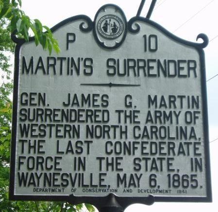 MARTIN'S SURRENDER WAR MEMORIAL MARKER