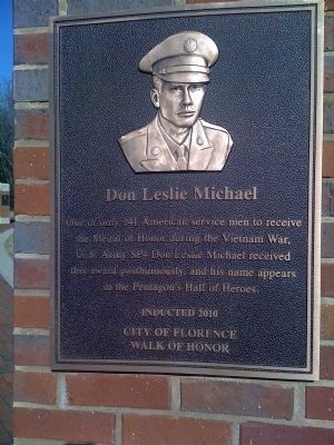 SP4. DON LESLIE MICHAEL MEMORIAL PLAQUE