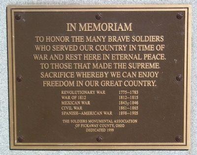 HIGH STREET CEMETERY WAR MEMORIAL PLAQUE