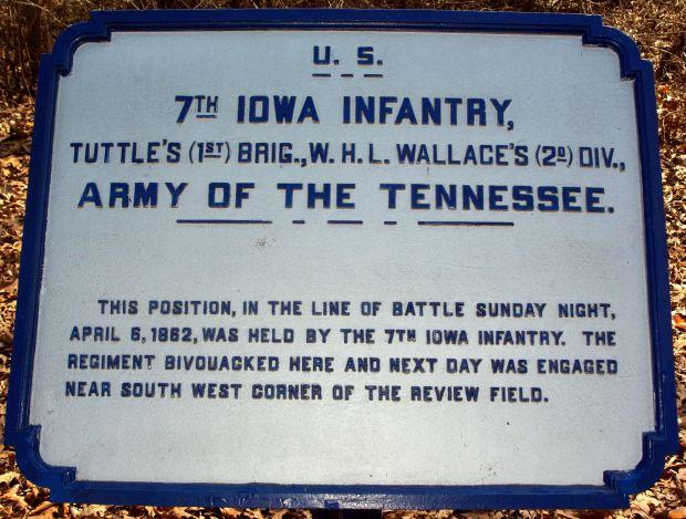 U.S. 7TH IOWA INFANTRY MEMORIAL PLAQUE II
