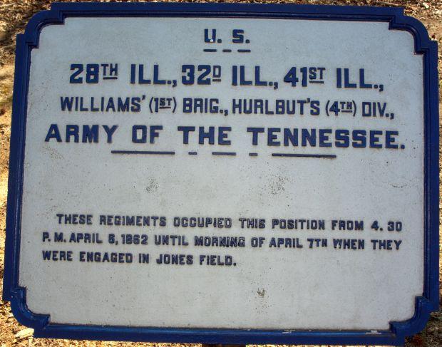 U.S. 28TH ILL., 32D ILL., 41ST ILL., MEMORIAL PLAQUE
