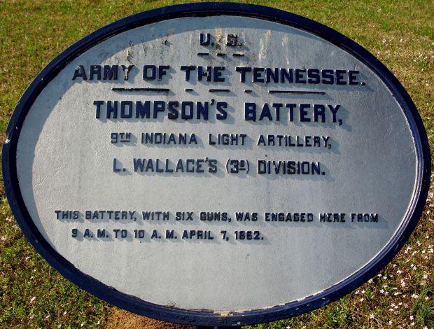 THOMPSON'S BATTERY MEMORIAL PLAQUE II