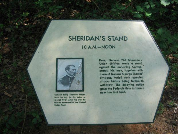 SHERIDAN'S STAND WAR MEMORIAL PLAQUE