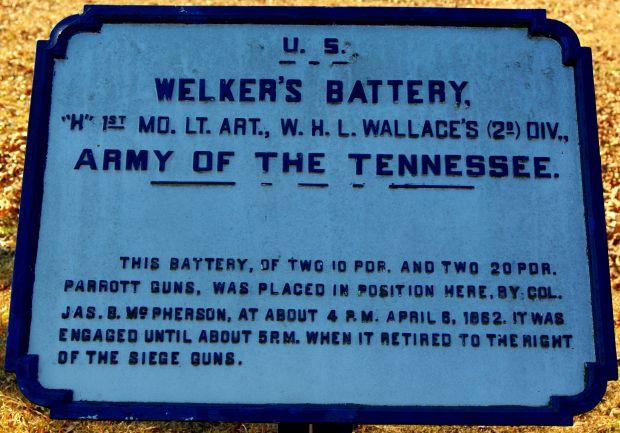 WELKER'S BATTERY MEMORIAL PLAQUE III
