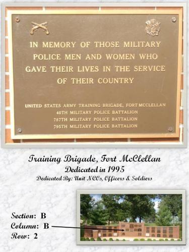 U.S. ARMY TRAINING BRIGADE MEMORIAL PLAQUE