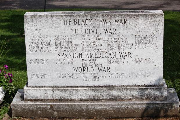 FORT ATKINSON WAR VETERANS MEMORIAL BACK