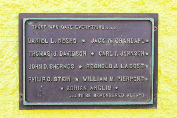 IRON COUNTY VIETNAM VETERANS THOSE WHO GAVE EVERYTHING MEMORIAL PLAQUE