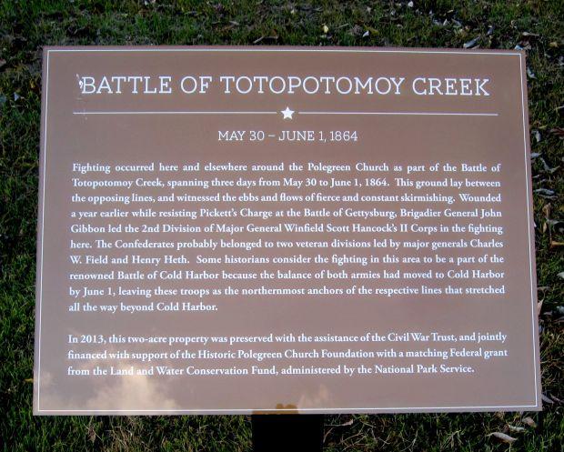 BATTLE OF TOTOPOTOMOY CREEK WAR MEMORIAL PLAQUE
