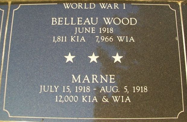 KENOSHA CITY AND COUNTY BELLEAU WOOD AND MARNE MEMORIAL PLAQUE
