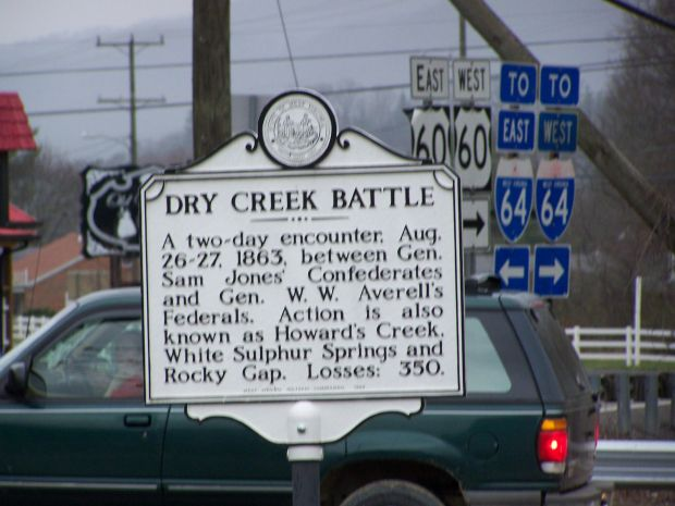 DRY CREEK BATTLE WAR MEMORIAL MARKER