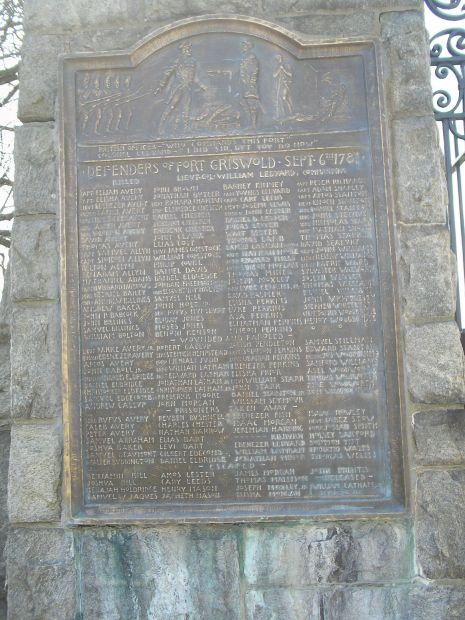 DEFENDERS OF FORT GRISWOLD WAR MEMORIAL