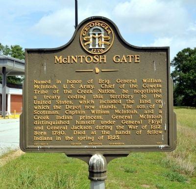 MCINTOSH GATE MEMORIAL MARKER