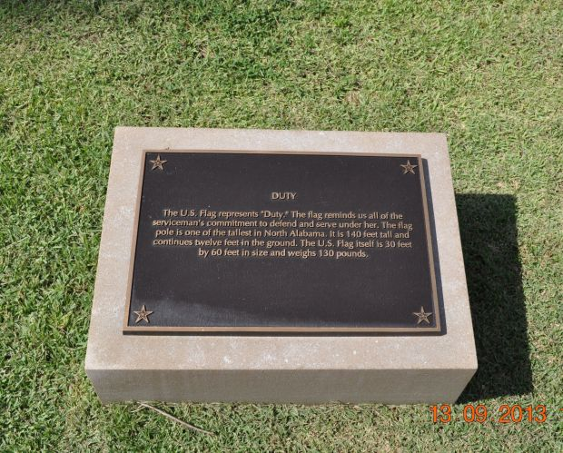 MADISON COUNTY MEMORIAL FOUNTAINS DUTY PLAQUE