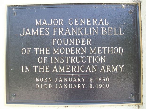 MAJOR GENERAL JAMES FRANKLIN BELL MEMORIAL PLAQUE
