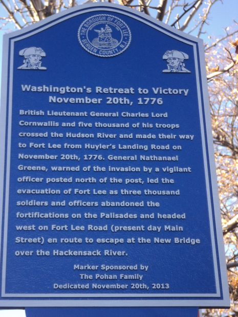 WASHINGTON'S RETREAT TO VICTORY MEMORIAL MARKER III
