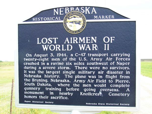 LOST AIRMEN OF WORLD WAR II MEMORIAL MARKER