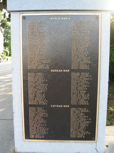 WESTERLY WORLD WAR II, KOREAN WAR AND VIETNAM WAR MEMORIAL PLAQUE I