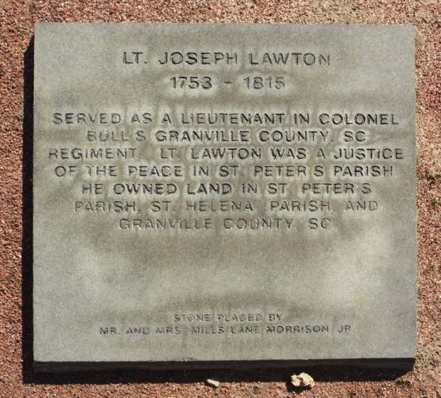 LT. JOSEPH LAWTON WAR MEMORIAL PAVER