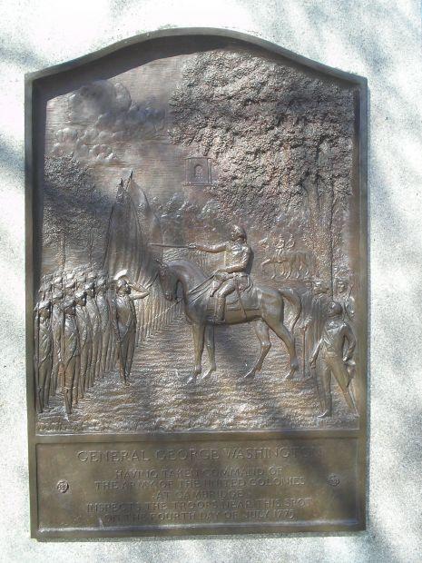 WASHINGTON'S GENERAL ORDERS WAR MEMORIAL BACKI