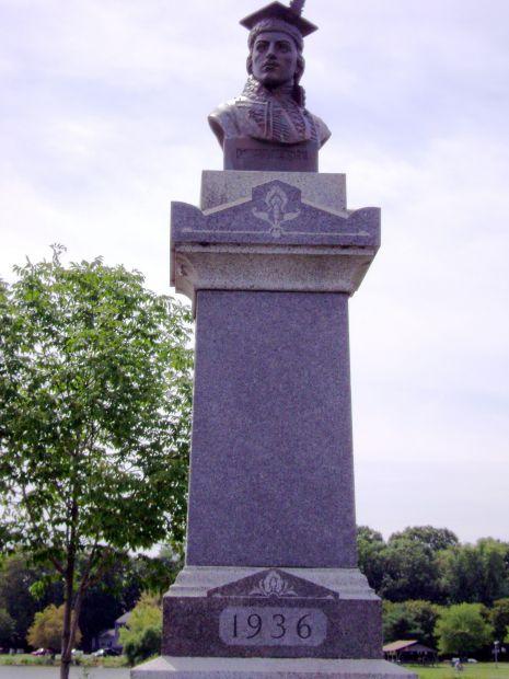 GENERAL CASIMIR PULASKI STONE CARVED MEMORIAL