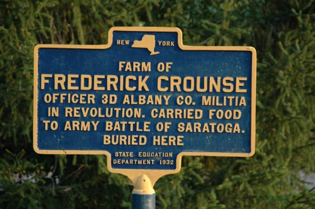 FREDERICK CROUNSE REVOLUTIONARY WAR MEMORIAL MARKER
