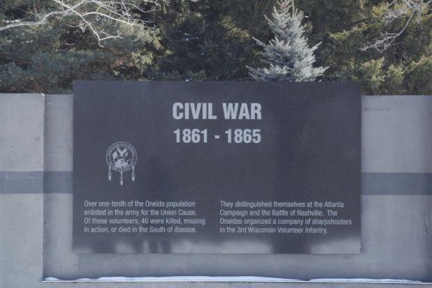 ONEIDA VETERANS MEMORIAL CIVIL WAR PLAQUE